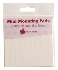 3mm MINI MOUNTING PADS - BLACK