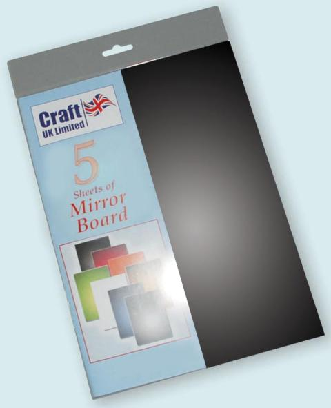 A4 Mirror Board 5 Sheets Black